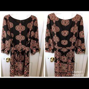 Ann Taylor pink designed tunic dress